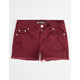 SCISSOR Fray Edge Girls Denim Shorts