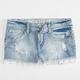 VANILLA STAR Crochet Hem Girls Denim Shorts