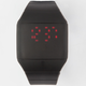 Rubber Square Face LED Watch