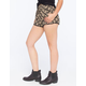 FULL TILT Ethnic Print Crochet Trim Womens Shorts