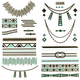 Metallic Southwestern Temporary Tattoos