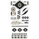 Metallic Aztec Temporary Tattoos