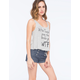 ALMOST FAMOUS Polka Dot Womens Sailor High Waisted Denim Shorts