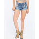 VANILLA STAR Rolled Cuff Womens High Rise Denim Shorts