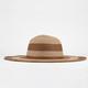 Stripe Straw Womens Floppy Hat