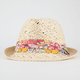 Floral Band Open Weave Womens Fedora