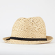 Straw Womens Banded Fedora