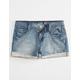 VANILLA STAR Rolled Cuff Girls Denim Shorts