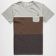RUSTY Blistered Mens Pocket Tee