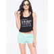 FULL TILT Lace Up Burnout Womens Shorts