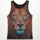 BLUE CROWN Lion Mens Tank