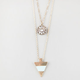 FULL TILT 3 Row Stone/Medallion/Triangle Necklace
