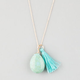 FULL TILT Turquoise Stone/Tassel Necklace
