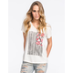 VOLCOM Floral Flag Womens Tee