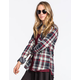 YOUNG & RECKLESS Womens Flannel Shirt