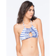 ROXY Tides Of Way Crop Halter Bikini Top