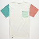 LIRA Multi Color Mens Pocket Tee