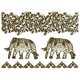 Metallic Elephant Temporary Tattoo Pack