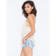 TINSELTOWN Ethnic Print Chambray Womens Shorts