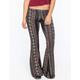 FULL TILT Floral Ethnic Print Womens Flare Pants