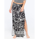 LILY WHITE Double Slit Tropical Maxi Skirt