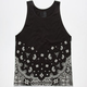 BLUE CROWN Big Bandana Mens Tank