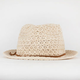 Suede Cord Crochet Womens Fedora