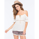 PATRONS OF PEACE Cold Shoulder Womens Top