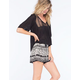 PATRONS OF PEACE Smocked Waist Womens Shorts