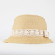 Womens Straw Cloche Hat