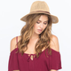 Twisted Band Womens Straw Panama Hat