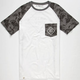 LIRA Diamond Floral Mens Pocket Tee