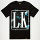 LAST KINGS Dark Floral Mens T-Shirt