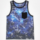 BLUE CROWN Geo Space Age Mens Tank