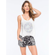 FULL TILT Tropical Print Womens Shorts