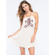HONEY PUNCH Embroidered Tiered Dress