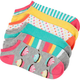6 Pack Pastel No Show Womens Socks