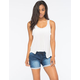 ALMOST FAMOUS Womens Knit Denim Rolled Cuff Shorts
