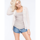 FULL TILT Essential Heathered Womens Zip Front Hoodie