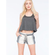ALMOST FAMOUS Linen Stripe Womens Shorts
