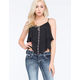 FULL TILT Embroidered Tiered Womens Tank