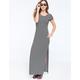 FULL TILT Stripe Womens Maxi T-Shirt Dress