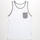 BLUE CROWN Contrast Mens Pocket Tank