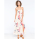 LOTTIE & HOLLY Floral Button Front Maxi Dress