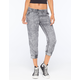 FULL TILT Acid Wash Womens Cropped Jogger Pants