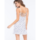 FULL TILT Ditsy Floral Ribbed Dress