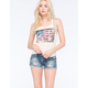VANILLA STAR Porkchop Pocket Womens Denim Cutoff Shorts
