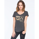 RVCA Leopard Box Womens Tee