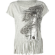 DESTINED Fringe Peacock Womens Top