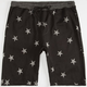 BROOKLYN CLOTH Stars Mens French Terry Jogger Shorts